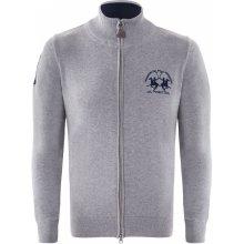 La Martina luxusní svetr na zip od Šedý