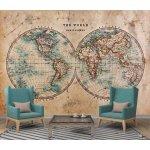 Coloriqa fototapeta Stará mapa světa 2507 Materiál: Samolepící tapeta, Rozměr: 152,5 x 104 cm M