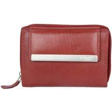 středně velká kožená peněženka HMT červená