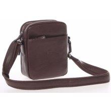 Hexagona hnědá luxusní kožená taška na doklady 123477 hnědá 299d87fc62d