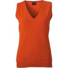 d2a99d58a86 James   Nicholson dámský svetr bez rukávů JN656 oranžová