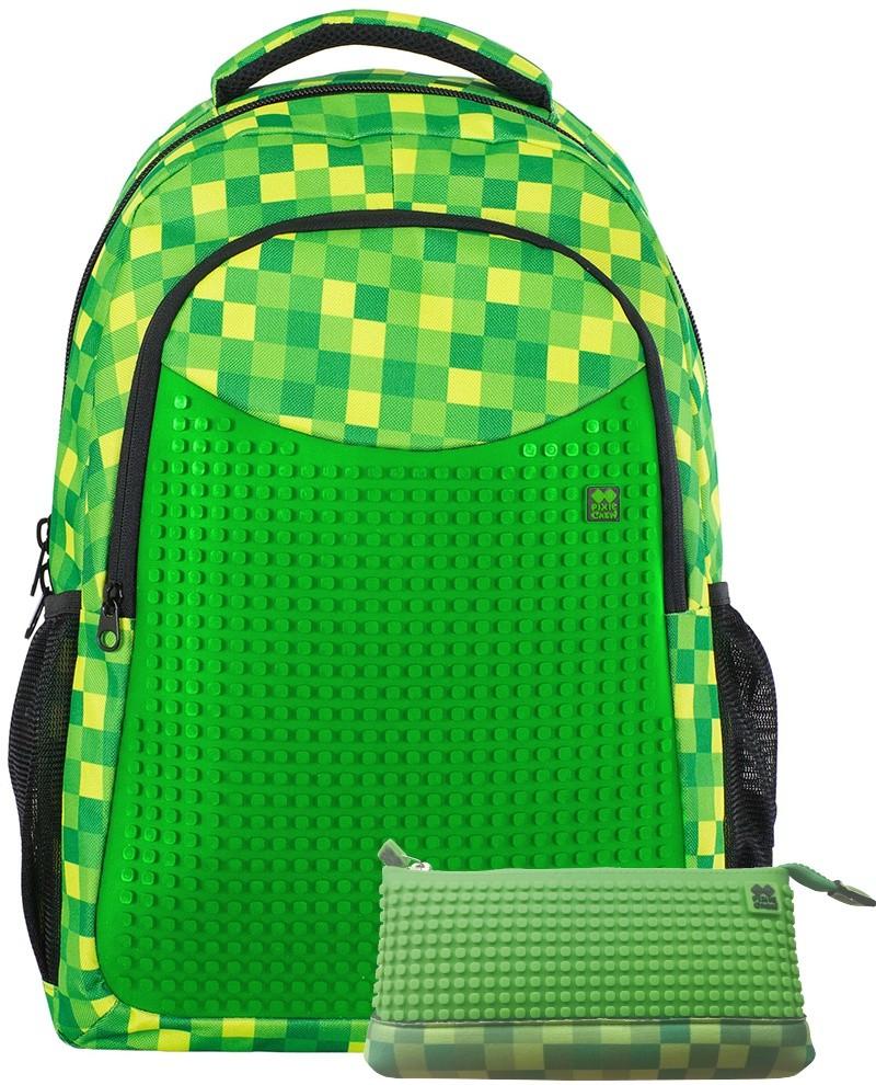 59446134a26 Pixie Crew batoh s penálem PXB 16 08 zelená kostka od 1 299 Kč - Heureka.cz
