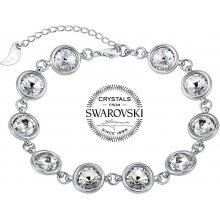 Silvego stříbrný náramek se Swarovski Crystal rivoli čiré VSW065B