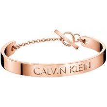 Calvin Klein Pevný bronzový náramek Message KJ7CPF10030