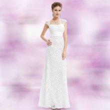 42757fc258e Dlouhé společenské svatební šaty krajkové bílá