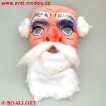 Maska Mikuláš s vousy 92000261