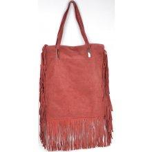 kabelka z pravé broušené kůže 82 Bordo