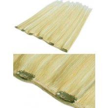 Zhušťovací pás rovné vlasy 50 cm nejsvětlejší blond