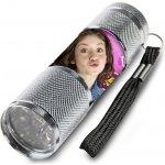 EUROSWAN Dětská hliníková LED baterka Soy Luna stříbrná Alu 9x3 cm