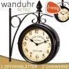 Nádražní hodiny, nostalgické hodiny, retro hodiny, design klasik hodiny v bílém provedení
