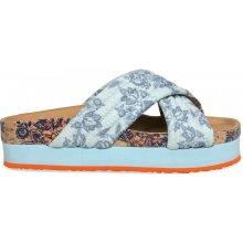 Desigual pantofle Okinawa modrá