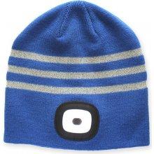 78e01126519 UNIKIA Dětská zimní čepice s LED čelovkou a reflexními proužky X CAP blue