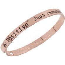 We Positive Kovový náramek FR003 Rose Gold