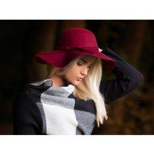 80e6caf1bae Exkluzivní klobouk dámský bordový 1284 2