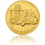 Česká mincovna 2018 Zlatá desetiuncová investiční mince Český lev stand 311 g