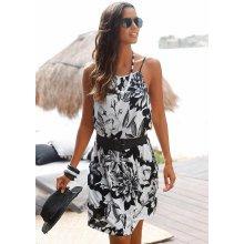39e637b15e1e Buffalo London plážové šaty s výrazným potiskem květin černobíla