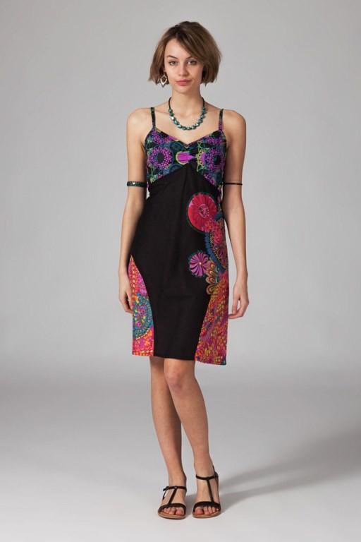 Etno letní krátké šaty Lima barevná černá od 490 Kč - Heureka.cz 0edd013f4c