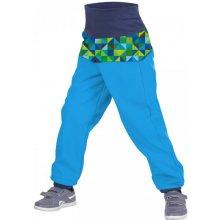 f5858203a0f unuo Batolecí softshellové kalhoty s fleecem Triangl Tyrkysové kluk