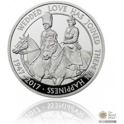 Česká mincovna Stříbrná mince Platinová svatba piedfort 56,56 g