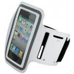 Pouzdro Sportiso Sportovní Armband iPhone 5/5S/SE Bílé