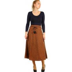 4508644521ca Glara dlouhá úpletová sukně s melírovaným vzorem 389402 hnědá od 700 Kč -  Heureka.cz