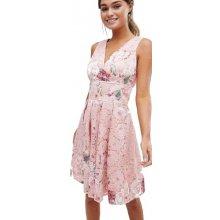 f7ca851c9305 Little Mistress šaty s květy růžová