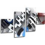 WEBLUX Obraz 4D čtyřdílný - 100 x 60 cm - Car parts Autodíly