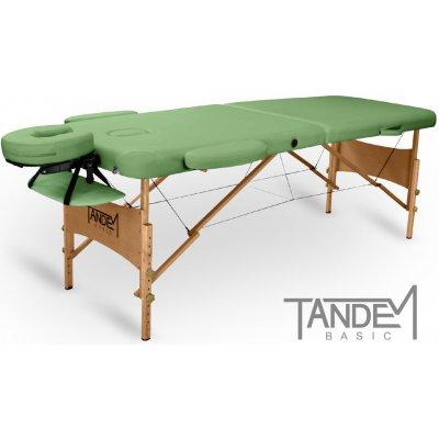 Tandem Basic-2 skládací masážní lehátko zelená 195 x 70 cm 13,1 kg 7 barev