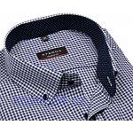Eterna Modern Fit košile s tmavomodrým kárem s vnitřním límcem a manžetou  extra prodloužený rukáv 7f83013343