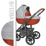 Baby Merc Bebello Grey B108A šedá + oranžová 2018