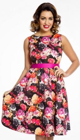 Lindy Bop dámské šaty Audrey Vibrant Floral 65207 barevná od 1 260 Kč -  Heureka.cz 313bda7608