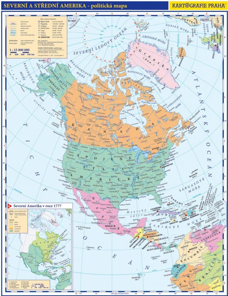 Severni Amerika Prirucni Pol Mapa Od 30 Kc Heureka Cz