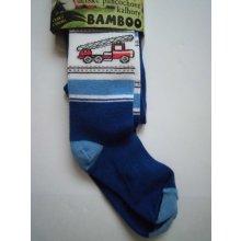 Novia dětské punčocháče BAM01 s bambusem auto modrá