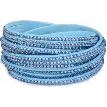 Troli náramek Wrap Aquamarine