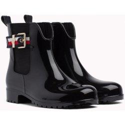 ae933a2f1d19 TOMMY HILFIGER holínky Corporate Belt Rain Black černé alternativy ...
