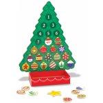Goleto Dřevěný adventní kalendář Vánoční stromeček