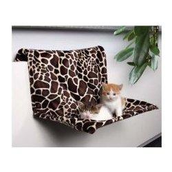 TRIXIE Pelech pro kočky na radiátor, žirafa, plyš - 48 x 26 x 30 cm