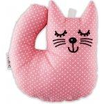 Šapitó Kotě růžový puntík chrastítko