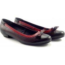 Aurelia černo-červená na malém podpatku