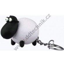 Přívěsek na klíče LED Ovečka zvířátko se zvukem