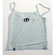 Electric light blue tank black logo