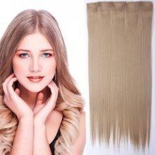 Clip in vlasy - 60 cm dlouhý pás vlasů - odstín 18 světle plavá