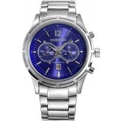 Hodinky Curren 8045 celokovové stříbrné s modrým ciferníkem 995a689a4b