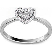8eca685fb iZlato Forever Zásnubní prsten s diamanty 0,090 ct Deluxe Heart DB0024