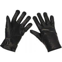 BW kožené rukavice lemované černé 0325822df0