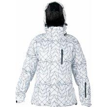 HI-TEC Lady Astrid dámská lyžařská zimní bunda s kapucí bílá