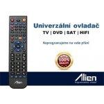 Dálkový ovladač Alien Náhradní SATELIT, TELEVIZE, DVD, VCR, HIFI