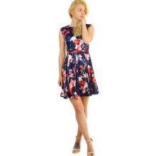 76fd007fb767 Dámské retro šaty s květinovým vzorem 316281 tmavě modrá