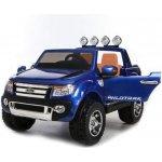 Dimix elektrické autíčko Ford Ranger 4x4 modré 4 motory R/C 24GHz EVA kola kůže