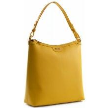 Bright elegantní dámská kabelka menší A4 kožená žlutá 7d7976f75e7